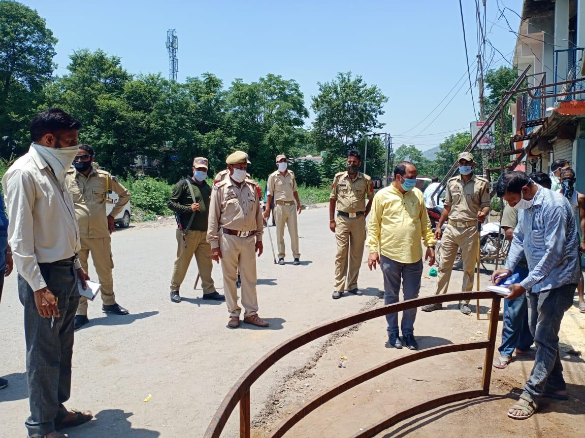 Fined imposed for not wearing mask in mendhar