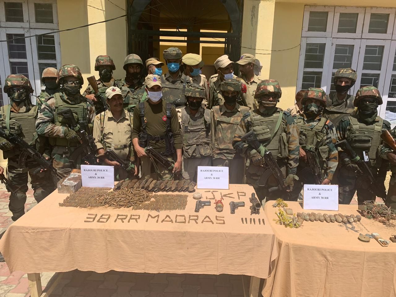 Militant hideout busted during Dodassan Bala op, arms & ammunition recovered