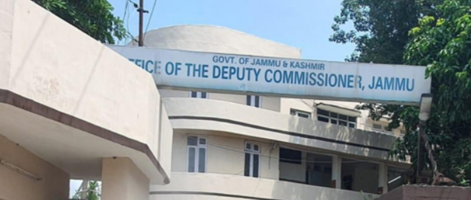 Three people working in the office of Deputy Commissioner- Jammu tested positive for the COVID-19, forcing the district administration to declare the entire office complex as a containment zone.