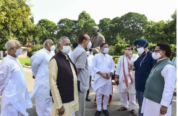 8 suspended Rajya Sabha MPs end sit-in as Opposition decides to boycott remaining session