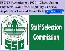 SSC JE 2020 Notification Out @ssc.nic.in: Apply Online till 30 October, Junior Engineer Exam on 22 March