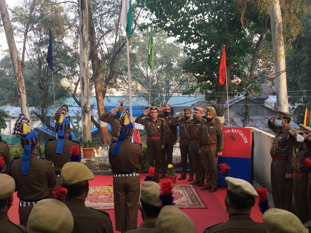 72nd Republic Day 2021 celebrated by JKAP 7th Battalion located at Channi Himmat Jammu