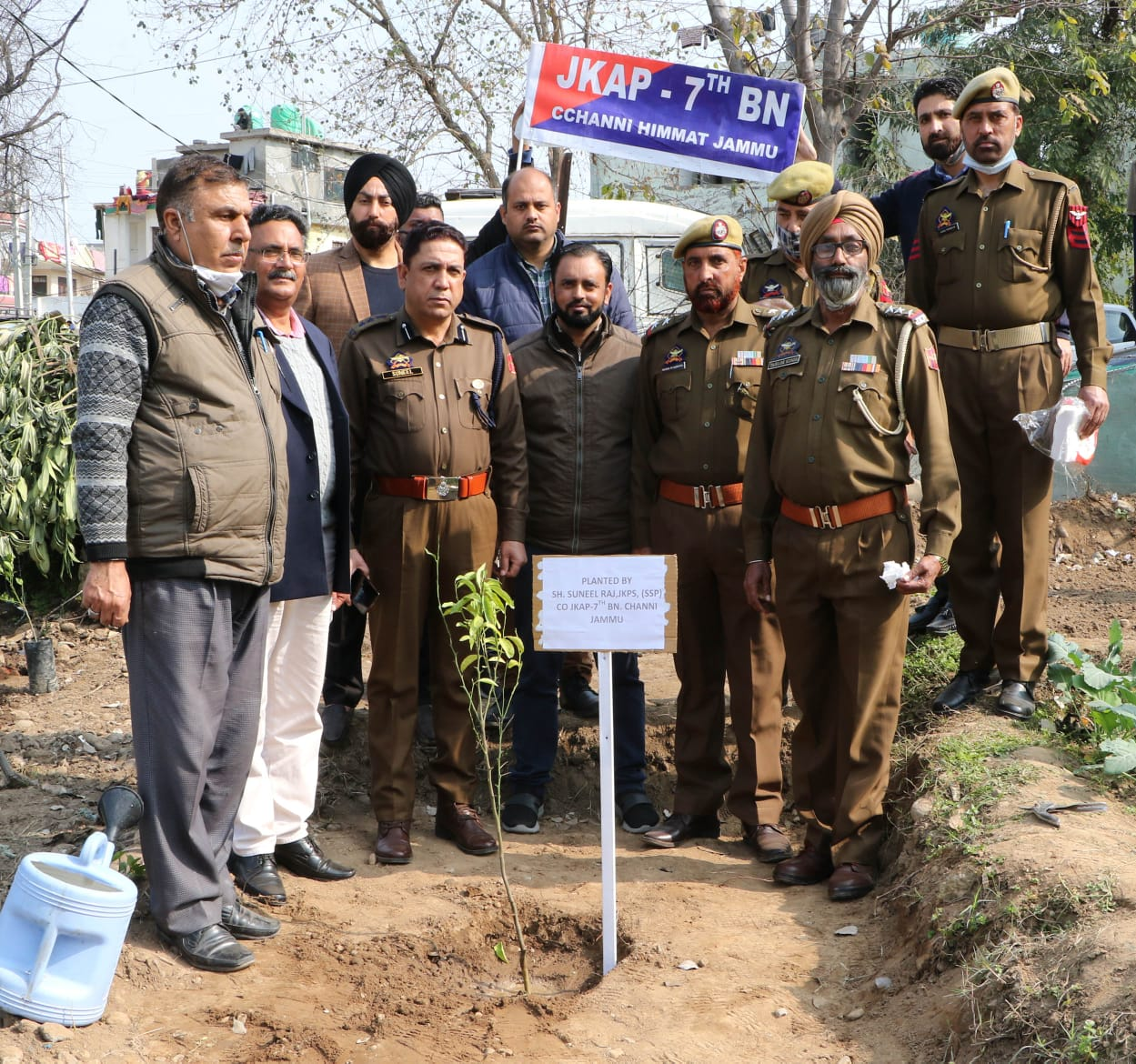 JKAP 7th Battalion started a plantation drive at Jammu
