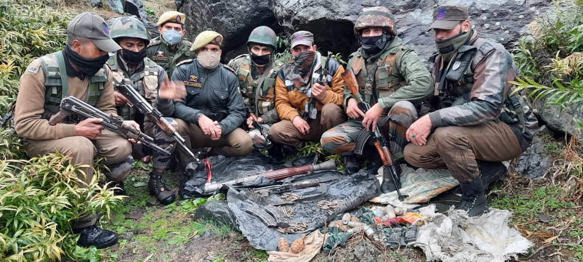 Terrorist Hideout Busted in J&K's Reasi District, Huge Cache of Arms & Ammunition Recovered