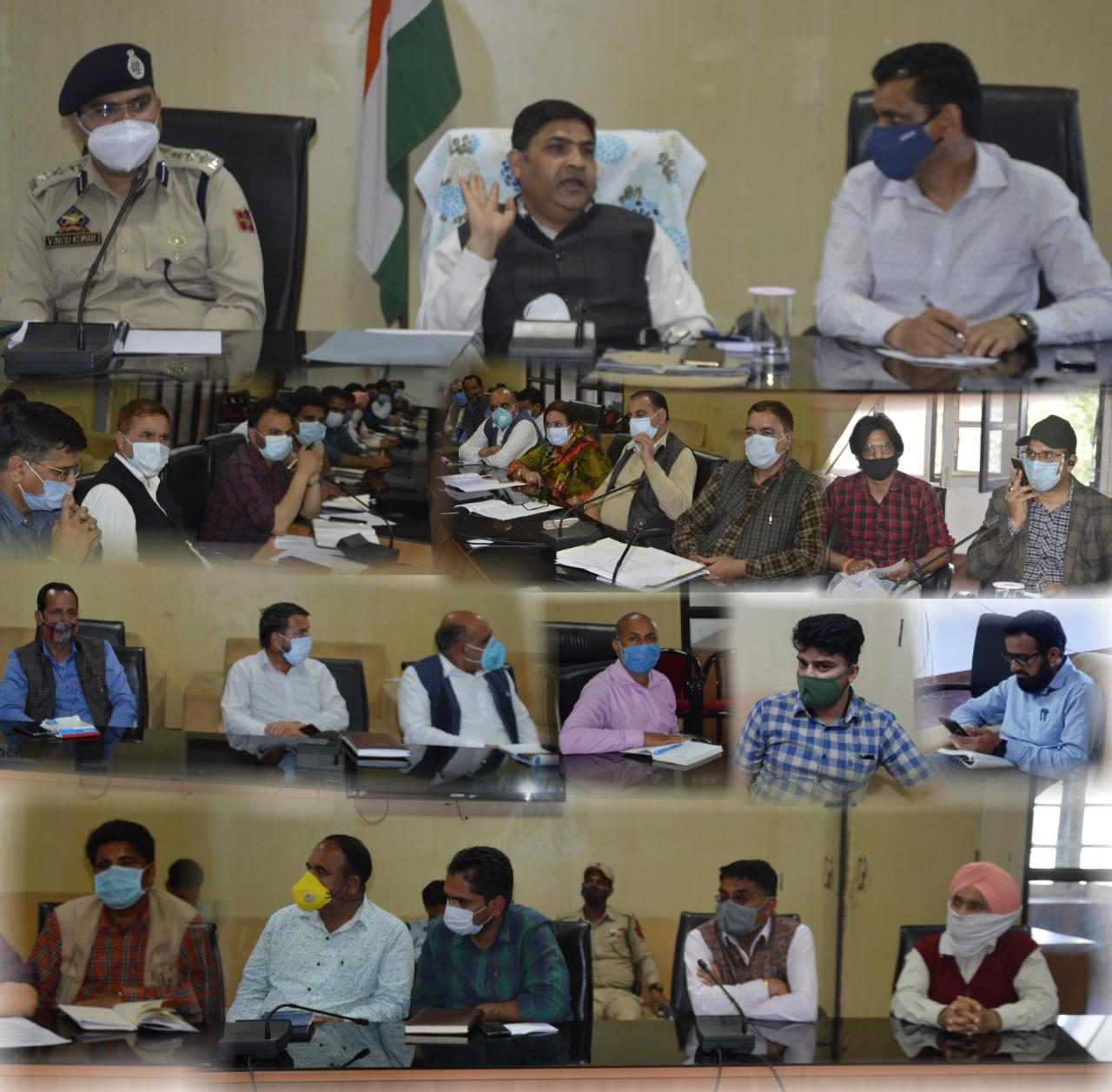 DC Poonch chairs meeting of officers to review COVID-19 mitigation measures