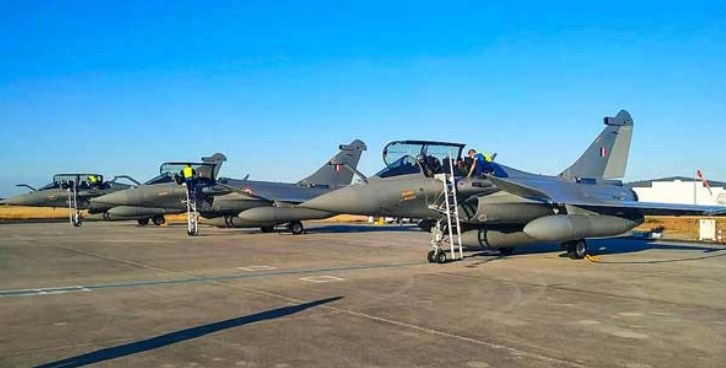 Four more Rafale jets arrive in India from France