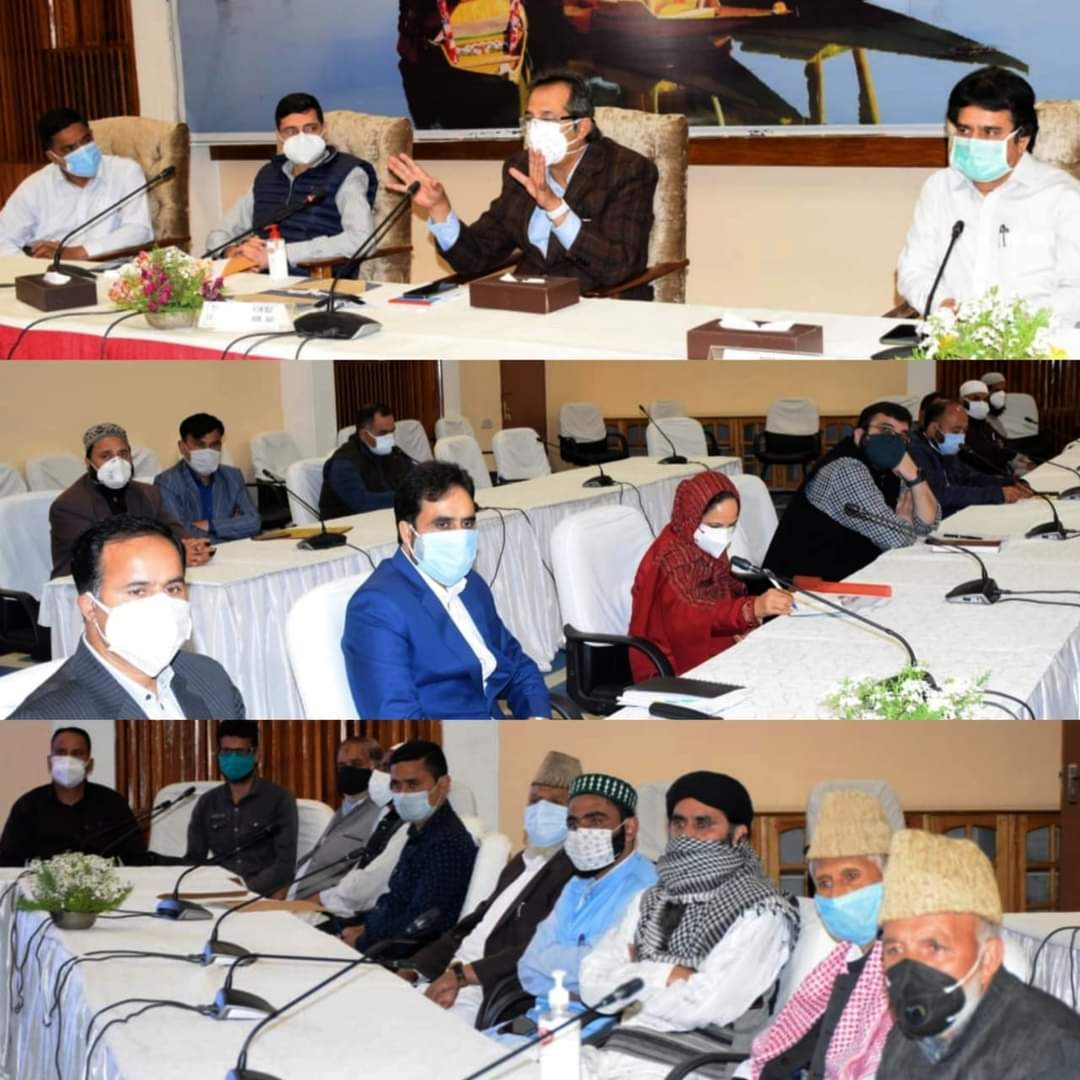 Advisor Baseer Khan holds interaction with stakeholders of Srinagar, Budgam at SKICCSeeks cooperation of all stakeholders towards containing Covid-19; Emphasizes vigorous vaccination drive