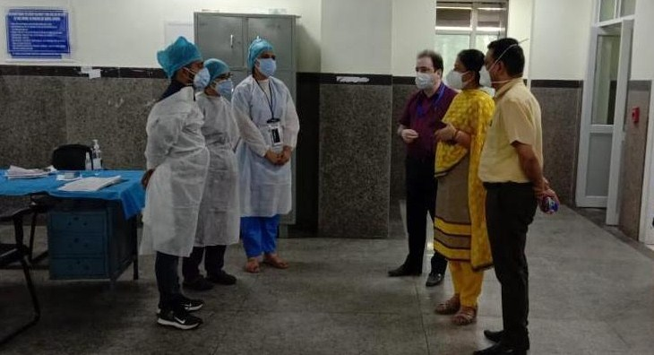 PMC inspects patient care facilities in GMCH, MCH and DRDO Hospital